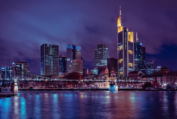 Bild der Frankfurter Skyline, als Titelbild für die Regeln zur Hundehaltung in Hessen
